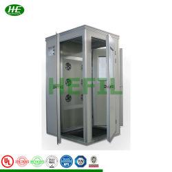 エアショールーム自動インターロック SS304 クラス 100 クリーンルームダブルエアフローシャワー