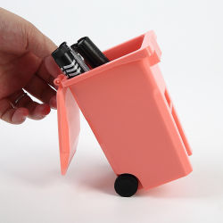 Dom promocionais personalizadas Mini Latas de reciclagem de plásticos, porta-lápis/