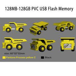 Goma PVC blando Custom 4G 8G 16GB de memoria USB Flash Drive USB Pen Drive USB Stick con 3D Diseño de cualquier forma de dibujos animados