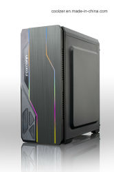 Het beste Geval van de Computer van het Geval van PC van het Gokken van de Verkoop ATX met Twee RGB Stroken Aangemaakte Venster van het Glas