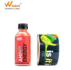 La province de Guangdong grand fabricant de marque imperméable sous étiquette privée boisson énergétique Étiquette du flacon