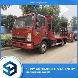 HOWO 4X2 de cama plana plataforma de camión de la recuperación de la superficie plana de Grúa camión de transporte de carga