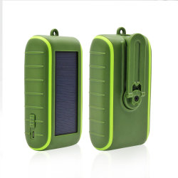 8000mAh rechargeable puissance solaire Chargeur Mobile