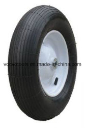 새로운 디자인 외바퀴 손수레 작은 압축 공기를 넣은 4.00-8 고무 바퀴