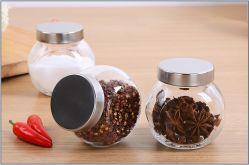 La comida de tarro de almacenamiento de vidrio El vidrio de botella de especias para utensilios de cocina
