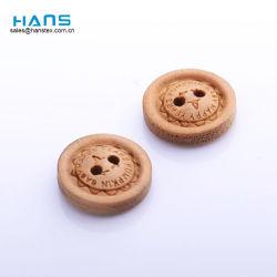 Ханс моды шитье 2 отверстия с помощью кнопок из дерева