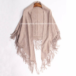 공급자 숙녀 겨울 온난한 술을%s 가진 삼각형에 의하여 뜨개질을 하는 캐시미어 천 숄