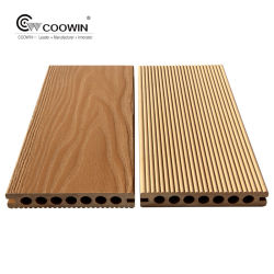Pwc gaufré solide Composite Outdoor Teak Patio une terrasse en bois des revêtements de sol