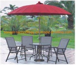 Vente chaude pliage parapluie de plein air, patio du jardin de couleurs multiples parasol, une table parapluie avec ou sans socle