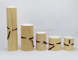 أزياء بيرش فينيير زجاجة واحدة اسطوانة خشبية صندوق هدايا النبيذ
