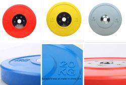 De beste Plaat van de Bumper van de Kleur van het Gewichtheffen van de Kwaliteit Stevige Rubber