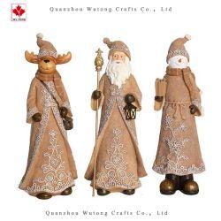 昇進の樹脂はクリスマスの置物のトナカイのサンタの休日の装飾を制作する