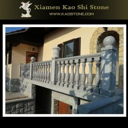 ホテルのための自然な石造りの大理石のBalusterか柵またはバルコニーまたは階段