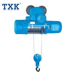 Txk 1ton de cabos eléctricos puxando o guindaste com carrinho motorizado com proteção contra sobrecarga