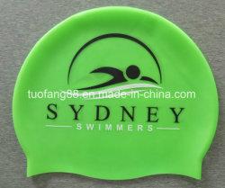 ロゴプリントが付いている品質のケイ素の水泳帽