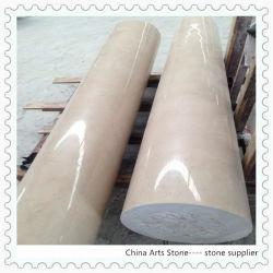 El beige/Blanco/Negro/Gris columna de mármol para la construcción de la Decoración