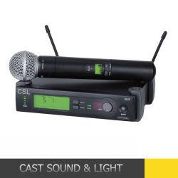 Slx24 Sm58 scelgono il microfono di condensatore senza fili tenuto in mano dello studio di frequenza ultraelevata