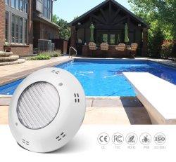 O controle do interruptor de RGB LED de luz da piscina debaixo de 18W Fibra de luzes piscina montada na parede