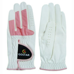 Rosa und White Ladys PU Leather Golf Glove (PGL-21)