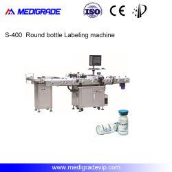 L'étiquetage automatique de la machine avec système de reconnaissance de CCD pour bouteille ronde