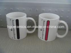 Chage de color taza, taza de cambio de color impreso de la etiqueta