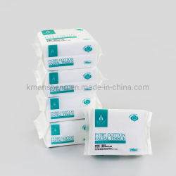 10x20cm 100feuilles naturel Sec Humide pur coton de tissu pour bébé