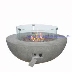 Im Freiengarten-Gas-Feuer bildet Filterglocke Löcher
