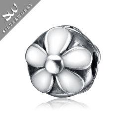 925 Joyería de Plata del émbolo de bola de pétalos grandes joyas de plata cordones