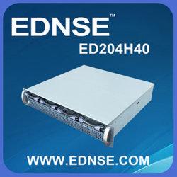 2014 Nuevo diseño de 2U Ednse ED204h40 Hotswap Soporte del chasis del servidor Mini-Itx Motherboard