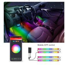 Indicatore luminoso astuto dell'interiore dell'automobile di Tuya Bluetooth
