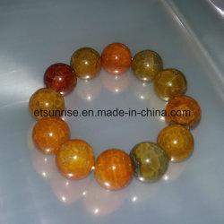 Bracelete de grão de ágata natural com pedras preciosas semi-preciosas