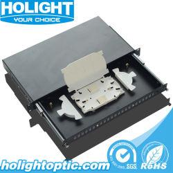 Tiroir de type 24 Ports du panneau de brassage bâti de distribution utilisés pour la fibre optique