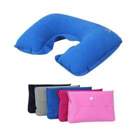 Venda de fábrica flocados infláveis travesseiro do bocal de Viagem