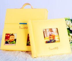 Кожаный фотоальбом семьи с случаем подарка (PA-022)