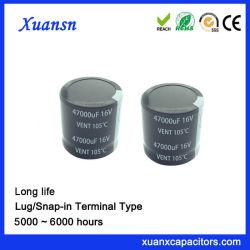 Type condensateur électrolytique de la broche de soudure 47000UF16V super grande capacité
