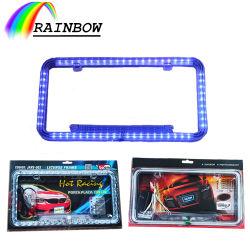 Precio del Proveedor de accesorios del vehículo de luz LED de colores resistentes al agua de la matrícula de neón de bastidor/soporte/molde/cubrir coche estilo americano