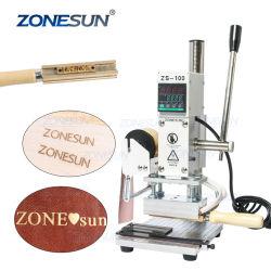 Zonsun Zs100 ماكينة طباعة بورقة ساخنة ماكينة طباعة بورقة معدنية يدوية ماكينة برونزية يدوية لـ ورق وجلد البطاقات البلاستيكية