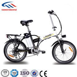 Lianmei 접이식 전기 도시 자전거(20인치 휠, 탈착식 리튬 이온 배터리(36V10Ah), 프리미엄 풀 서스펜션 및 Shimano 기어 포함