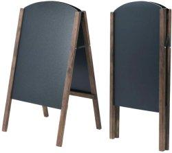 Cancellabile pieghevole del blocco per grafici della lavagna della camminata laterale del menu di legno a doppia faccia del segno