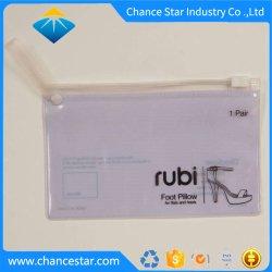 Impresa personalizada PVC transparente bolsa Ziplock de plástico con asa