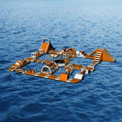 Strumentazione gonfiabile gigante della sosta dell'acqua che fa galleggiare la sosta gonfiabile del Aqua