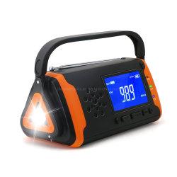 Heißer verkaufenradio des pAS-Warnungs-Kurbel-preiswerter Sonnenkollektorportable-morgens FM