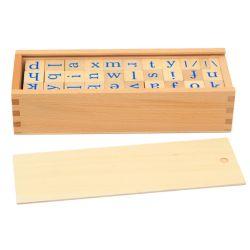 Brieven die van de Gift Montessori van de baby de Houten Kinderen spellen die OnderwijsSpeelgoed voor Peuters leren