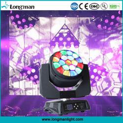 19*15W RGBW DJ Disco этапе лампа дальнего света LED перемещение головки блока цилиндров