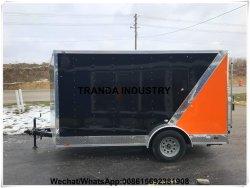 Remorque de luxe frigorifiée mobile de nourriture de rue de Module de chariot à plateau