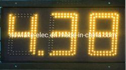 LED de 6 polegadas do preço do gás Digital carregadores (3 dígitos na cor âmbar)