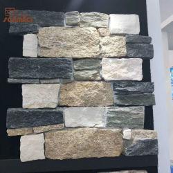 O cimento exterior natural cultivadas de ardósia Pedra do Painel de Revestimento de parede para o varejo