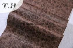 Tecido de camurça em relevo hot stamping de projeto na China