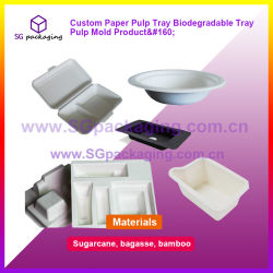 Bandeja de la pulpa de papel personalizado de la bandeja del molde Producto biodegradable de pulpa