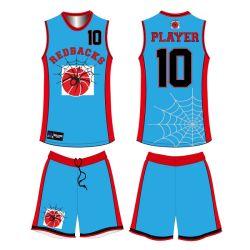 Pullover di pallacanestro di sublimazione del randello della squadra di numero e di nome dell'attrezzo degli abiti sportivi di disegno di Jfc